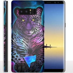Coque Galaxy Note 8 Leopard Bleu - Protection anti chocs Samsung Animaux