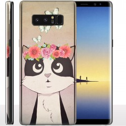 Coque Galaxy Note 8 Ma Langue au Chat - Protection anti chocs Samsung Animaux