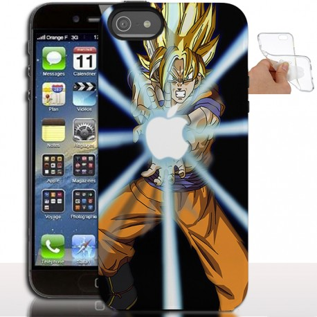 Housse de Tpu Dragon Ball Z pour iPhone 5 - Coque gel iPhone 5s, SE