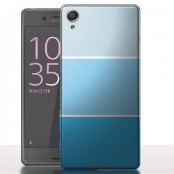 Coque Sony Xperia X Performance Pastel Art Bleu - Dégradé de couleurs
