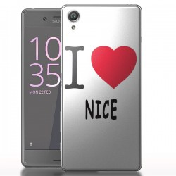 Coque protection pour Sony Xperia X Love Nice
