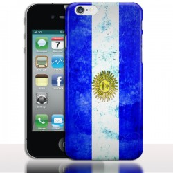 Coque iPhone 4 Drapeau Argentine Vintage