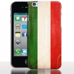 Coque iPhone 4 Drapeau iTalie Vintage