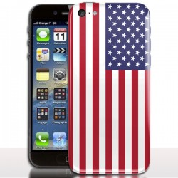 Coque iPhone 5c Drapeau USA