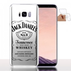 Housse portable Galaxy S8+ Old Jack Blanche en Silicone