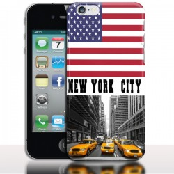 Coque iPhone 4 New York - Ville du Monde - Protection rigide