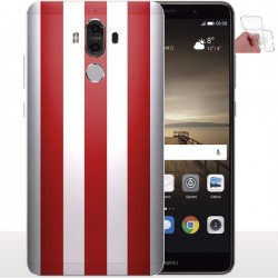Coque gel Huawei Mate 9 Rayures Rouges, Coque telephone anti choc